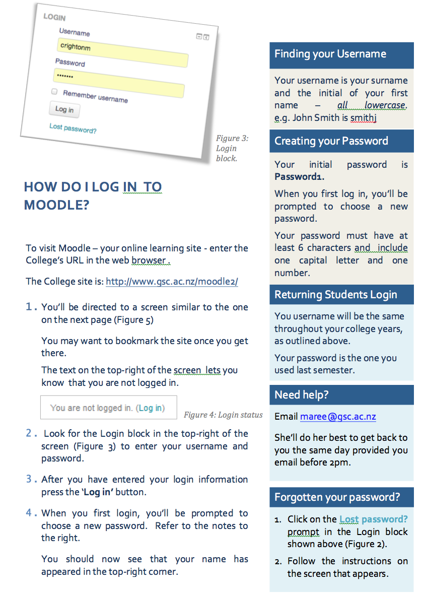 How to log into moodle